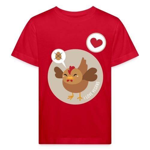 I love Vegans - Kinderen Bio-T-shirt