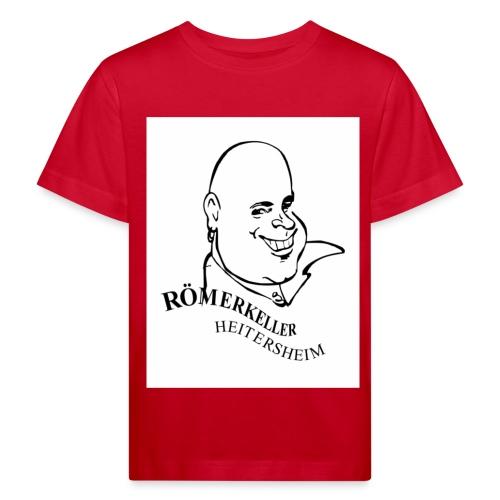 Roemerkeller weiss Logo Kopf OHNE RAND jpg - Kinder Bio-T-Shirt