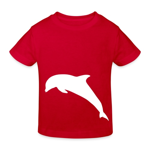 Delfin springend - Kinder Bio-T-Shirt