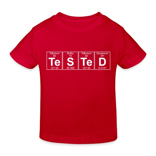 Te-S-Te-D (tested) (small) - Kids' Organic T-Shirt