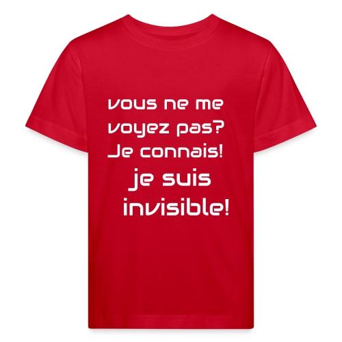 Invisibile #invisibile - Maglietta ecologica per bambini