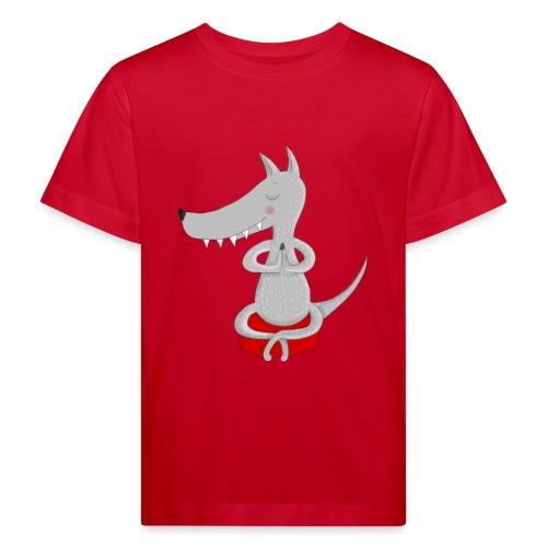 Wolf in tiefer Meditation - Kinder Bio-T-Shirt