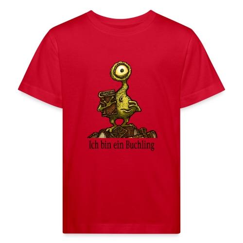 Ich bin ein Buchling - Kinder Bio-T-Shirt