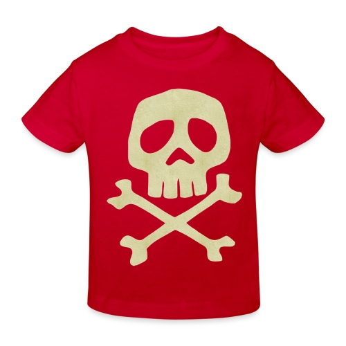 Danzig Style Captain Harlock Skull Crossbones / Jo - Kids' Organic T-Shirt