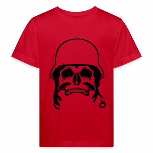 Soldier Helmet Skull 1c - Kids' Organic T-Shirt