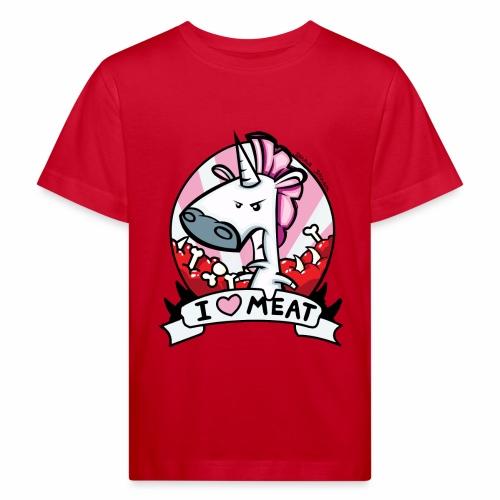 I love Meat by Nina-Nice - Kinder Bio-T-Shirt