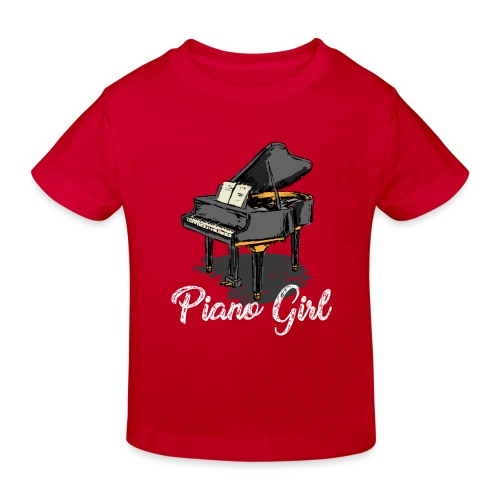Piano Girl - Klavier - Kinder Bio-T-Shirt
