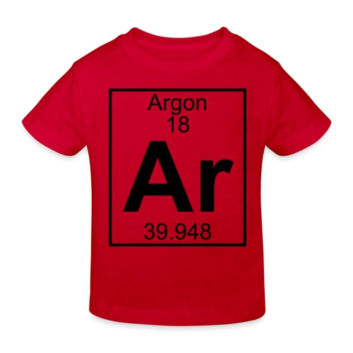 Argon (Ar) (element 18) - Kids' Organic T-Shirt