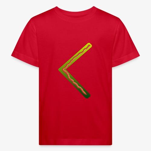 Farbenfrohes Runenmotiv in Trendfarben - Kinder Bio-T-Shirt