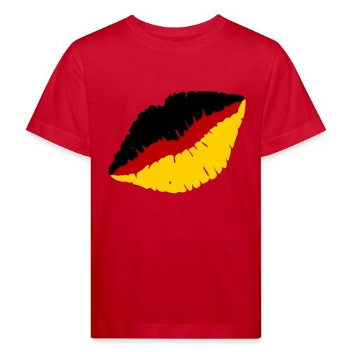 Deutschland Lippen Motiv - Kinder Bio-T-Shirt
