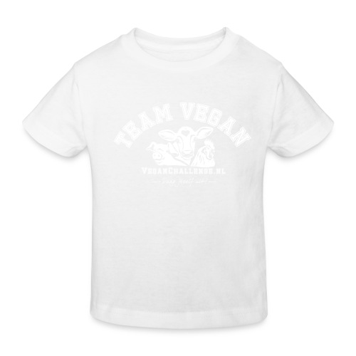 TEAM VEGAN 1 kleur - Kinderen Bio-T-shirt