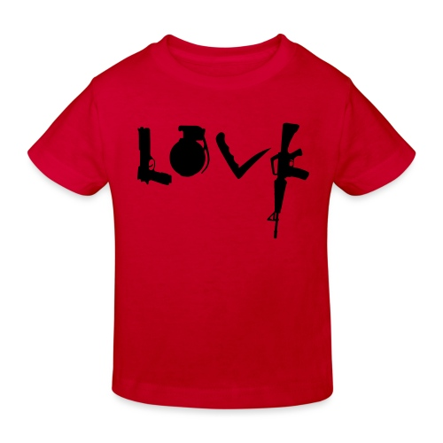 Love weapons - Kids' Organic T-Shirt