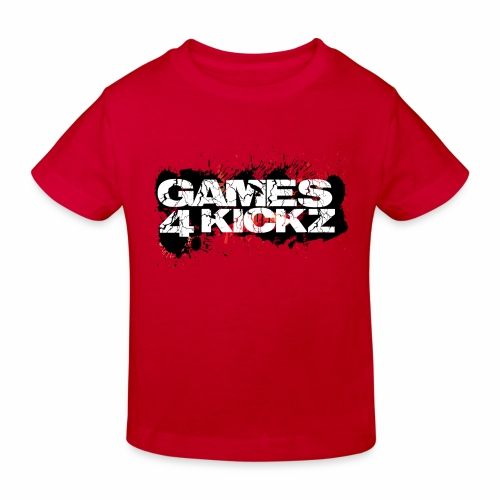 Games4Kickz Logo Splattered Background - Kids' Organic T-Shirt