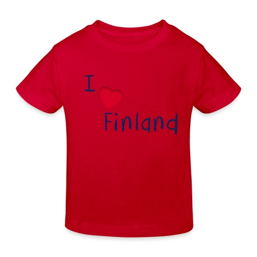 I Love Finland - Lasten luonnonmukainen t-paita