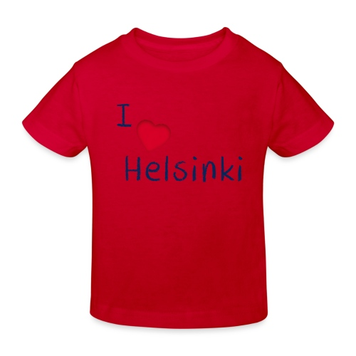I Love Helsinki - Lasten luonnonmukainen t-paita