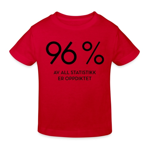 Statistikk-sprøyt (fra Det norske plagg) - Økologisk T-skjorte for barn