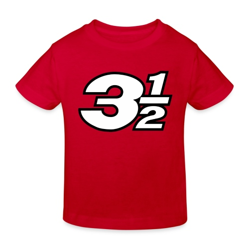 Three and a Half Logo - Kids' Organic T-Shirt