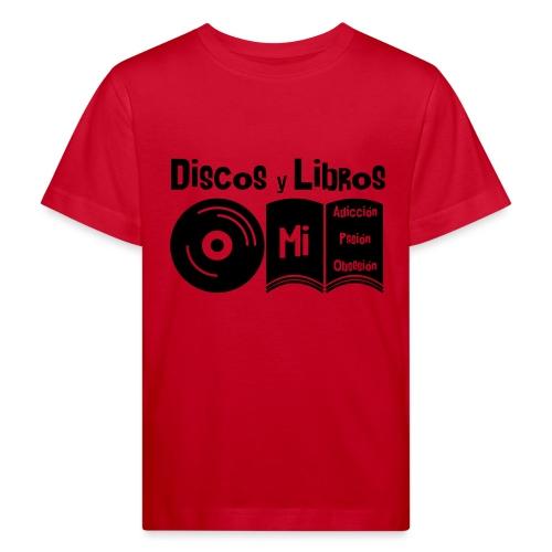 Discos y Libros - Camiseta ecológica niño