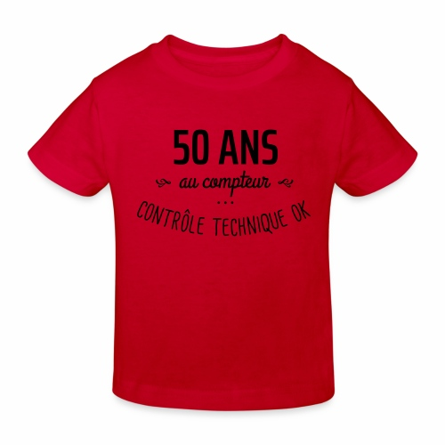 50 ans au compteur - T-shirt bio Enfant