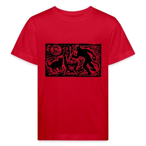 Teufel mit Katze - Kinder Bio-T-Shirt