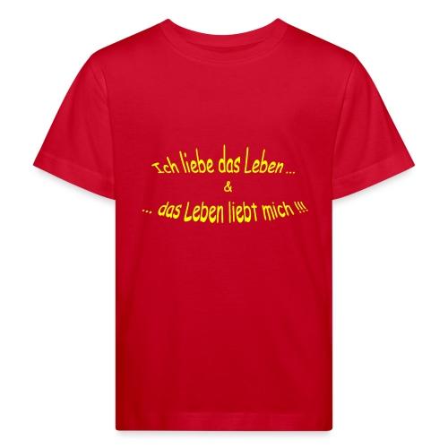 Ich-liebe-das-Leben-gelb - Kinder Bio-T-Shirt
