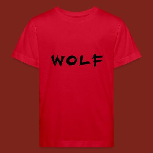 Wolf Font png - Kinderen Bio-T-shirt