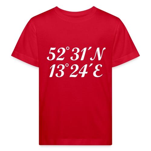 Berlin Koordinaten - Kinder Bio-T-Shirt