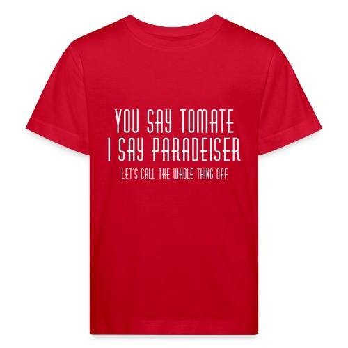 Deutsch-österreichische Versöhnung - Kinder Bio-T-Shirt