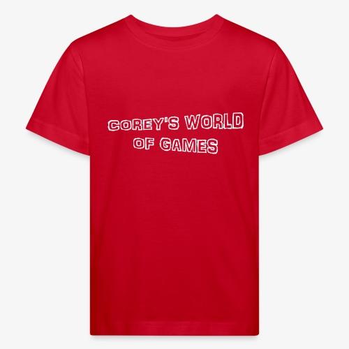 Coreys World Of Games - Kids' Organic T-Shirt