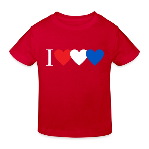 Ik hou van rood wit blauw Nederland - Kinderen Bio-T-shirt