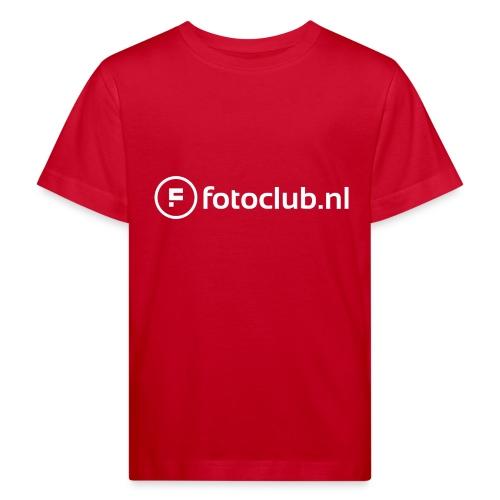 Logo Wit Fotoclublnl - Kinderen Bio-T-shirt