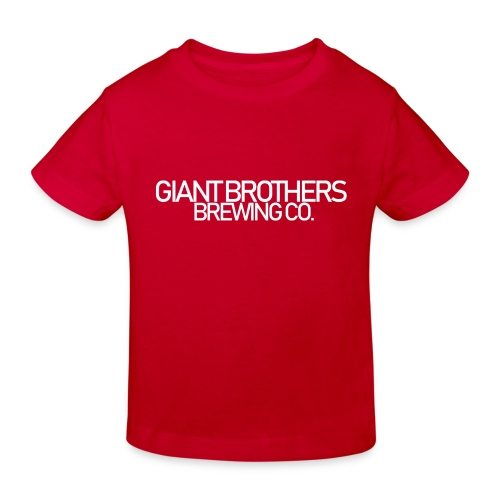Giant Brothers Brewing co white - Ekologisk T-shirt barn