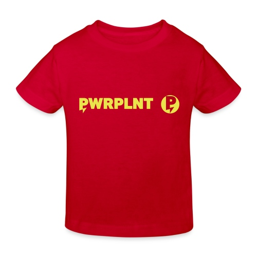 PWRPLNT_P_right_green_01 - Kids' Organic T-Shirt