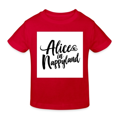 Alice in Nappyland Typography Black 1080 1 - Kids' Organic T-Shirt
