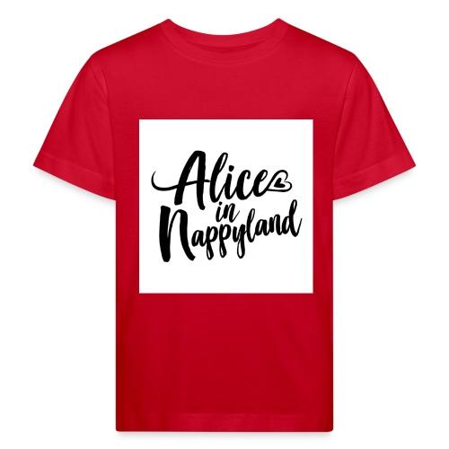 Alice in Nappyland Typography Black 1080 1 - Kids' Organic T-Shirt