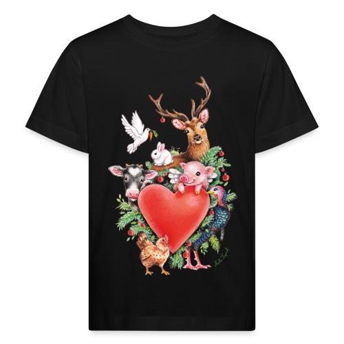 Christmas heart by Maria Tiqwah - Kids' Organic T-Shirt