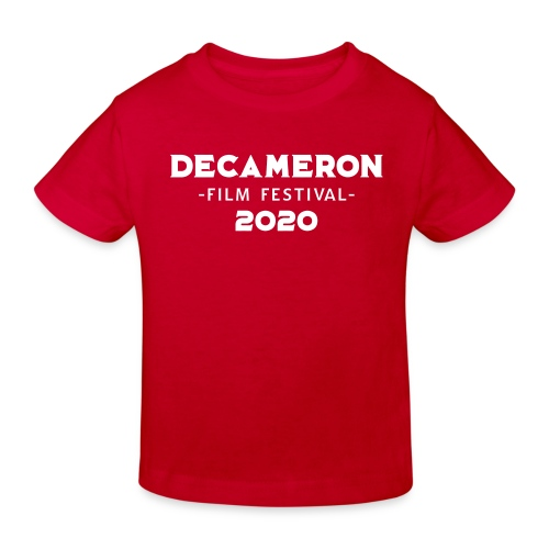 DECAMERON Film Festival 2020 (FRONT & BACK) - Kids' Organic T-Shirt