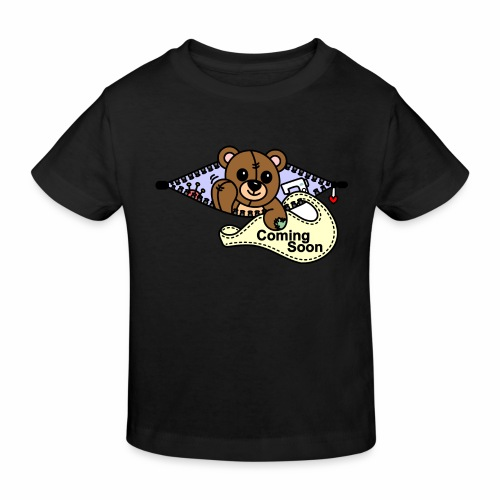 Bärchen Nähmaschine Coming Soon - Kinder Bio-T-Shirt