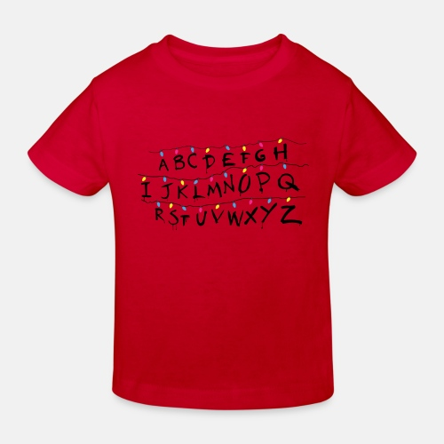 Stranger Things Alphabet - Kinder Bio-T-Shirt