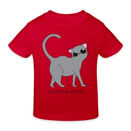 Bibi chat gris - T-shirt bio Enfant