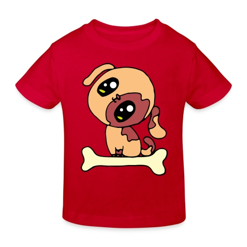 Kawaii le chien mignon - T-shirt bio Enfant