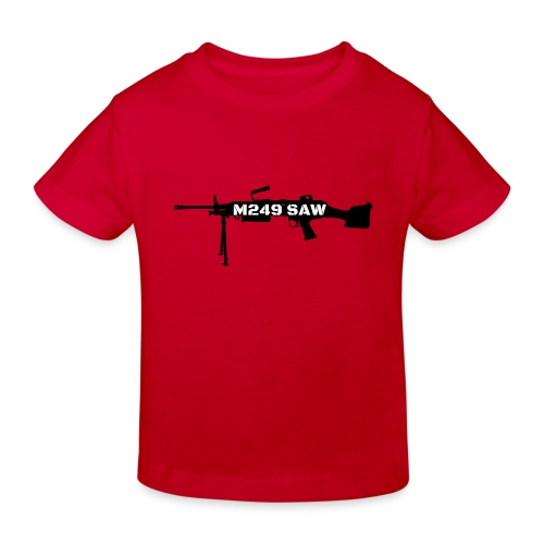 M249 SAW light machinegun design - Kinderen Bio-T-shirt