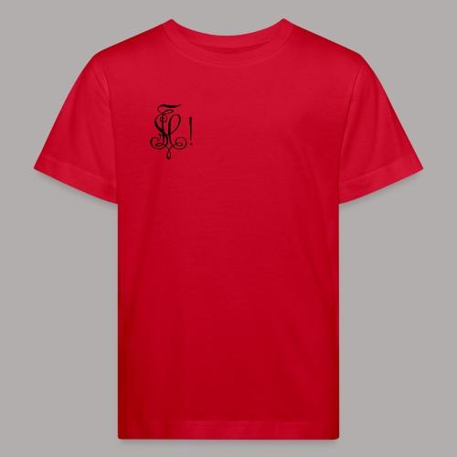 Zirkel, schwarz (vorne) - Kinder Bio-T-Shirt