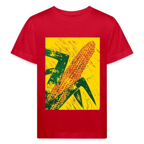 Mais rot - Kinder Bio-T-Shirt