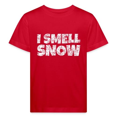 I Smell Snow Schnee, Weihnachten & Wintersport - Kinder Bio-T-Shirt