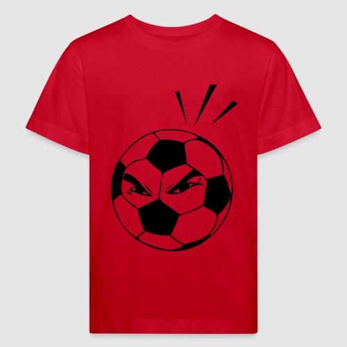 energischer Fußball - Kinder Bio-T-Shirt
