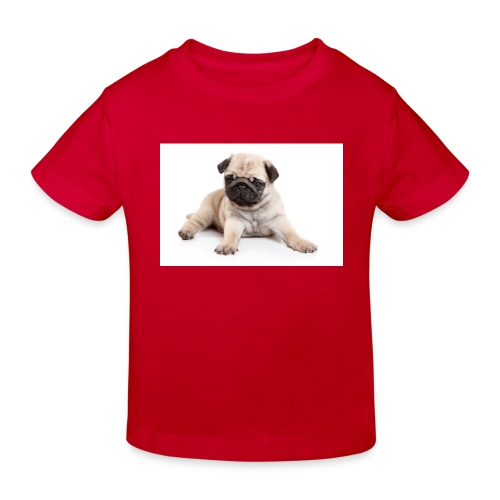 mopshond afdruk/print - Kinderen Bio-T-shirt