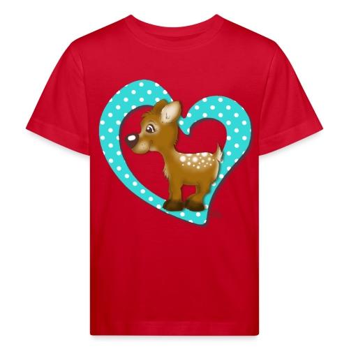 Kira Kitzi Aqua - Kinder Bio-T-Shirt