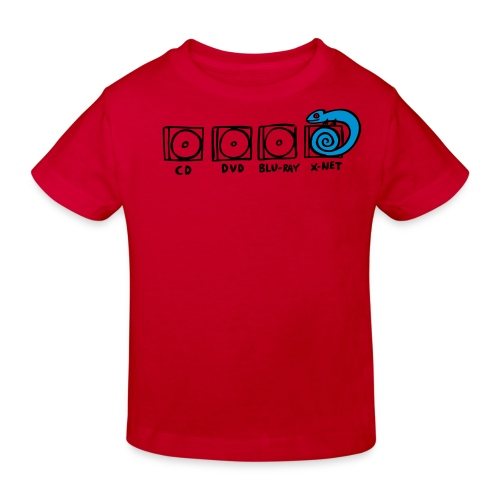 xnet vektormotiv - Kinder Bio-T-Shirt