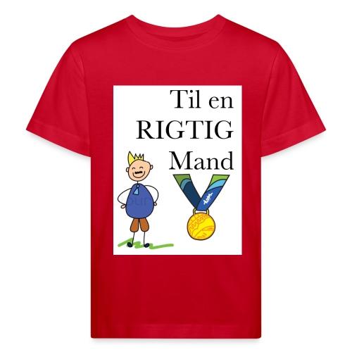 En rigtig mand - Organic børne shirt